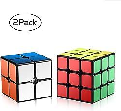 Roxenda 1Speed Magic set di 2x 2x 23x 3x 3liscio puzzle Cube, 2x 2& 3x 3set