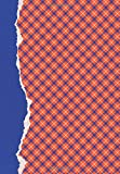 Orange and Blue Journal: (7 x 10)(Lined) Blank School Colors Notebook College High School Student Organizer Planner Alumni Booster Club Planner ... Diary Unique Plaid Cover Torn Paper Binding