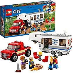 Lego City - Great Vehicles Pickup e Caravan, Multicolore, 60182
