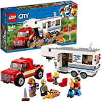 LEGO 60182 City Great Vehicles Pickup & Caravan Playset, Vehicle Construction Toys for Kids