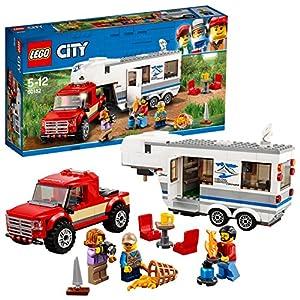 LEGO- City Pickup e Caravan, Multicolore, 60182  LEGO