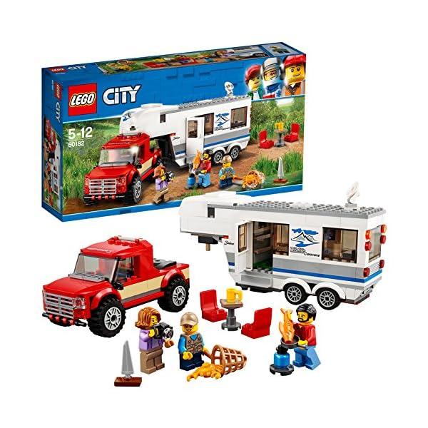 LEGO- City Pickup e Caravan, Multicolore, 60182 1 spesavip