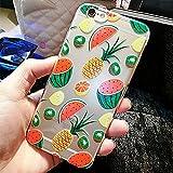 """funda iPhone 6S, funda iPhone 6 (4,7""""), Dikals jardín de verano, hermosa sandía y la piña, transparente funda(iPhone 6/6S,red)"""