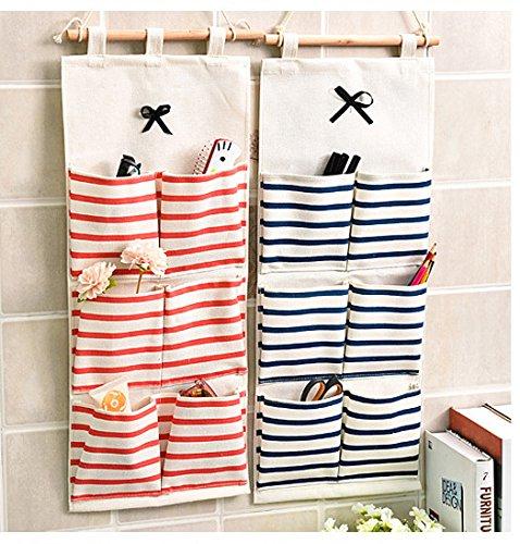 Baanuse borsa portaoggetti da parete in stoffa for Oggetti da appendere