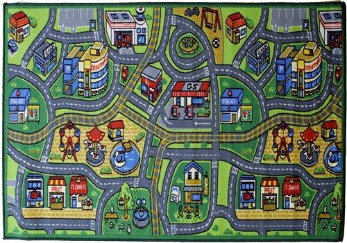 Flair Rugs Matrix Kiddy Happy Town pour Enfants Tapis, Multi, 100 x 190 cm