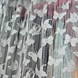 Generic Butterfly String Curtain Fringe Door Window Panel Room Divider Tassel White
