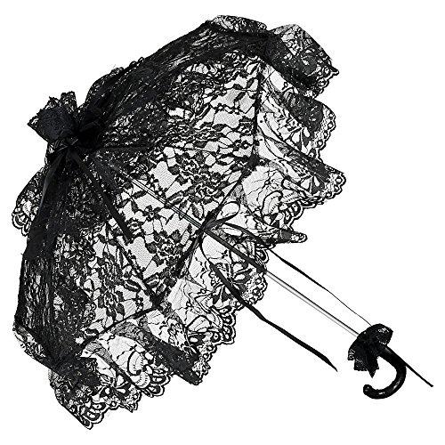 Von lilienfeld® parasole ombrellino sposa donna accessori josephine nero