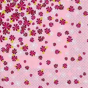 20 Servietten A Thousand Flowers - Eintausend Blumen / Blumenmotiv 33x33cm