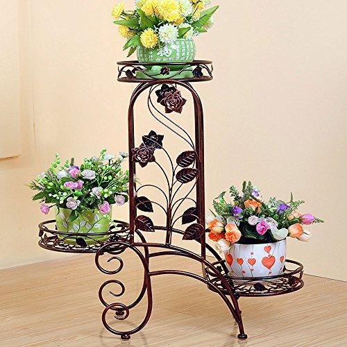 XING-0930 X-L-H Eisen Blumenregal europäischen Stil Wohnzimmer Balkon Boden Blume Stand (Farbe : Bronze) -