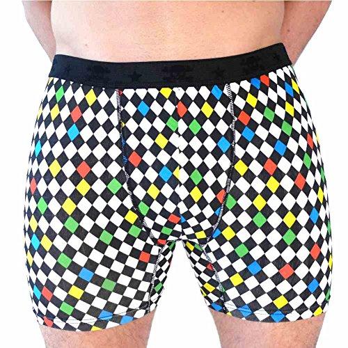 HERREN BOXERSHORTS l Unterhosen Shorts Slips l Rockabilly Totenkopf Marihuana l in 4 FARBEN l 100% Baumwolle l S M L XL XXL 11091-682