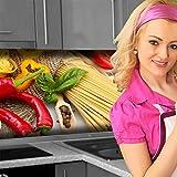 Küchenrückwand < Pasta Love > Premium Hart-PVC 0,4 mm selbstklebend 340x51cm