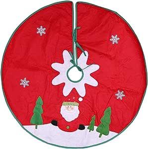 Rouge Toyland Jupe Verte de Sapin de No/ël 106 cm - D/écoration de No/ël 42