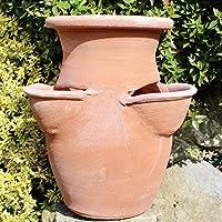 Fragoliera Vaso per piante e fiori in Terracotta (alta 30 cm) 100% made in Italy lavorato a mano al tornio