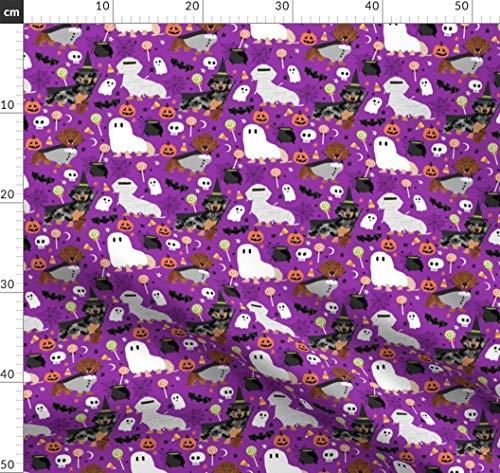Dackel, Hunde, Hund, Halloween, Gespenstisch Stoffe - Individuell Bedruckt von Spoonflower - Design von Petfriendly Gedruckt auf Bio Baumwollsatin -