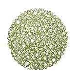 Papier Spitze Rund Tischset Platzmatte Platzdecke Dekoration zum Hängen X-Mas - Grün