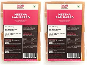 Delight Foods Meetha Aam Papad - Set of 2 (200g x 2)