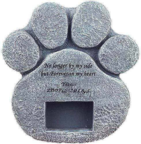 Reuvv Gedenktafel für Haustiere, Grabschmuck, Steinmarker, stabiles Kopfstein, für drinnen und draußen, Pfotenabdruck, Gedenk- oder Mitbringsel von Haustieren, Geschenk C