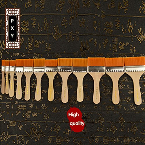 mohoo-12-pezzi-pennelli-set-pennello-della-spazzola-di-capelli-olio-grande-media-piccola-superficie-