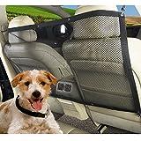 YJIUJIU Haustier Auto Rücksitz Barriere, Hunde Fahrzeug Maschenetz Reise Protektoren Trenngitter Sicherheit Barriere Für Hunde Katzen Tier