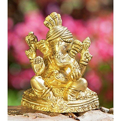 Ganesha 8 cm Messing antik Statue - Esoterik Zubehör günstig kaufen