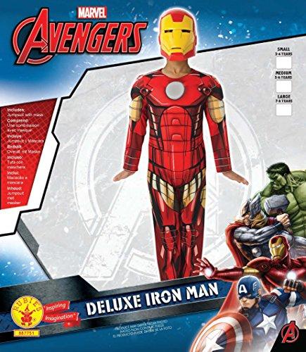 Imagen de deluxe iron man  avengers assemble  childrens disfraz  medium  116cm alternativa