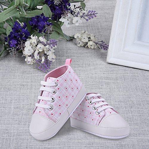 Luerme Babyschuhe Kleinkind Segeltuch Schuhe Niedlich Weiche Sohle Turnschuhe Lauflernschuhe Rosa