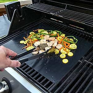 Hyfive - Barbecue Mat/feuille - Revêtement résistant & - Noir - Lot de 2