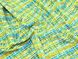 - Motiv, Blau/Grün/Gelb, kariert, Fat Quarter (50.80 x