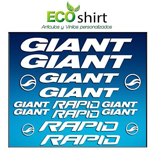 Ecoshirt DL-M2BC-OTL0 Aufkleber Frame Giant Rapid Am29 Stickers Aufkleber Decals Adesivi Bike BTT MTB Cycle, Weiß