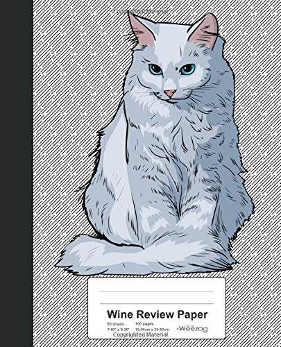 Wine Review Paper: Book Turkish Angora Cat (Weezag Wine Review Paper Notebook, Band 275) -