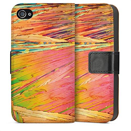 Apple iPhone 4 Housse Étui Silicone Coque Protection Arc-en-ciel Egratignure couleurs Sideflip Sac