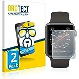 brotect Pellicola Protettiva Compatibile con Apple Watch Series 3 (38 mm) Pellicola Trasparente (2 Pezzi) Anti-Impronte