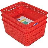 Fair Food ™ Multi Storage Basket Red 3 Pcs Set