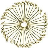 Jovitec Palillos de Cóctel de Bambú, 300 Piezas 4,1 Pulgadas de Pinchos Anudados de Bambú Natural con Extremos Retorcidos