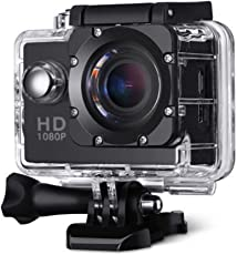 Rewy Waterproof 1080P 12MP Camera with Micro Sd Card Slot, Multi-Language and 2-inch LCD Screen