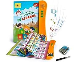Libro Electrónico de Sonido en Español Juguetes de Aprendizaje para Bebés Niños Máquinas de Lectura para niños 3-5 Años Apren