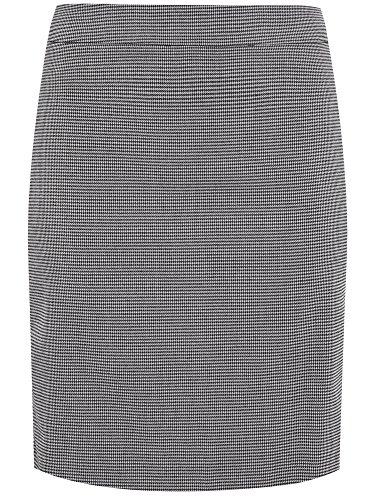 oodji Ultra Damen Gerader Rock mit Reißverschlüssen an den Seiten Grau (1029G)