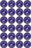 INDIGOS UG® Namensaufkleber / Sticker - 40x40 mm - 038 - Pteranodon - 24 Stück für Kinder, Schule und Kindergarten - Stifte, Federmappe, Lineale - individuell bedruckbar - auch für Erwachsene