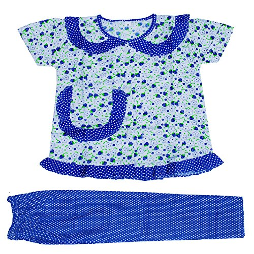 Light Gear Girls Knitted Cotton Sleepwear / Homewear (2 - 10 yrs)(2-3 years, Blue)