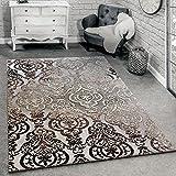 Paco Home Designer Teppich Moderne Ornamente Wohnzimmerteppich Muster Grau Meliert, Grösse:80x150 cm