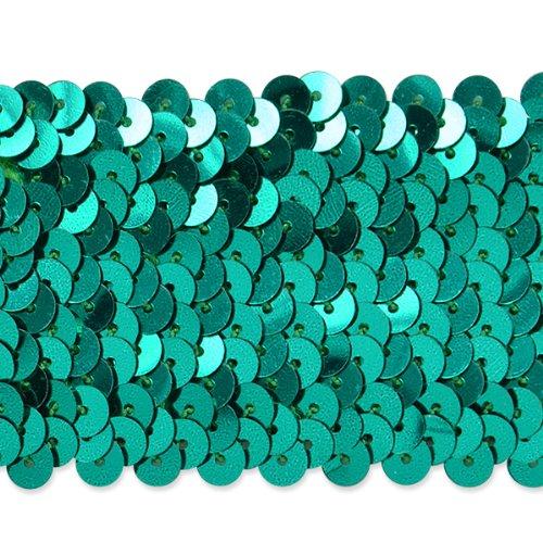 Expo International 20-yard von fünfreihiges Metallic Stretch Pailletten Trim, 1–3/4-Zoll, Blaugrün (Stretch-metallic-pailletten-trim)
