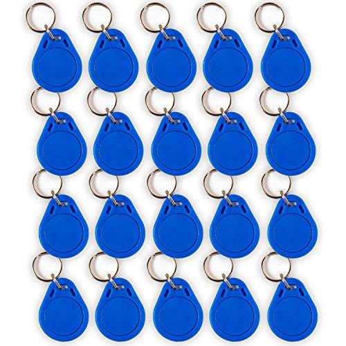 Preisvergleich Produktbild 20 NFC Tag Schlüsselanhänger NTAG215 | 504 Byte | blau