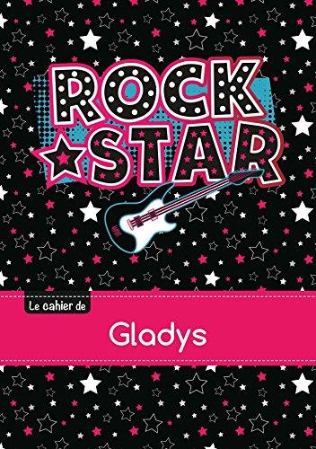 Le cahier de Gladys - Petits carreaux, 96p, A5 - Rock Star