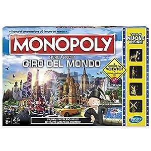Monopoly B2348456 - Gioco da Tavola Giro del Mondo, Plastica