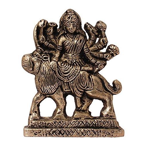 1064e623a33 ART N HUB Brass Antique Look Hindu Goddess Durga Devi Handicraft Statue  Sherawali Mata Rani   Maa Kali Decorative Spiritual Puja Vastu Showpiece  Figurine ...