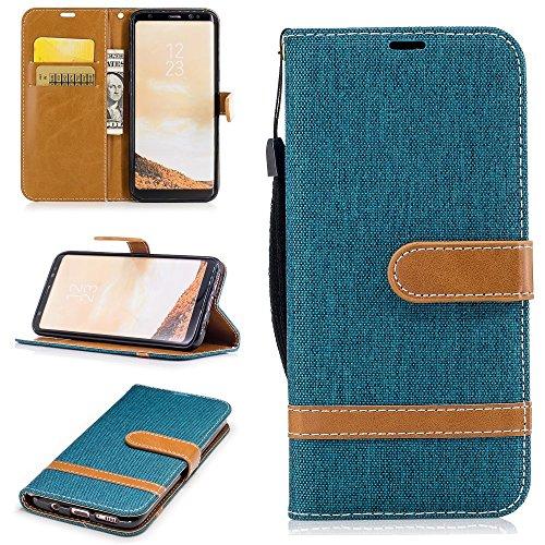jbTec® Flip Case Handy-Hülle Book #M41 zu Samsung Galaxy S8/Plus - Handy-Tasche Schutz-Hülle Cover Handyhülle Bookstyle Booklet, Farbe:Türkis, Modell:Galaxy S8 / Duos/SM-G950