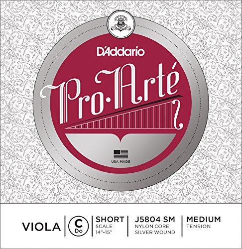 D'Addario Pro-Arte Einzelne C-Saite für Bratsche/Viola mit kurzer Mensur (Spannung: medium)