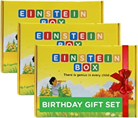 Einstein Box Birthday Gift Set for Boys and Girls, 1 Year (Multicolour) - Pack of 3