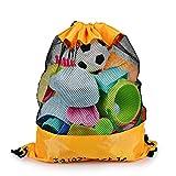 SainSmart Jr. Strandspielzeug Tasche Strandtasche mit Rücksack für Familie Urlaub Large Größe, Orange