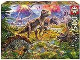 Educa - 15969 - Puzzle Classique - Rencontre Entre Dinosaures - 500 Pièces